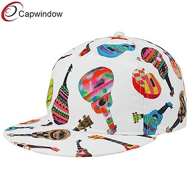 查看 (01048) Casual Friday Snapback Adjustable Hat of White Ukuleles with Sublimated Graphics 详情