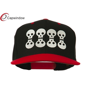 查看 (01059) Black Red Halloween 8 Skulls Embroidered Snapback Hat 详情