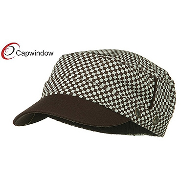 查看 (13020) Brown Checker Crown Military Cap 详情